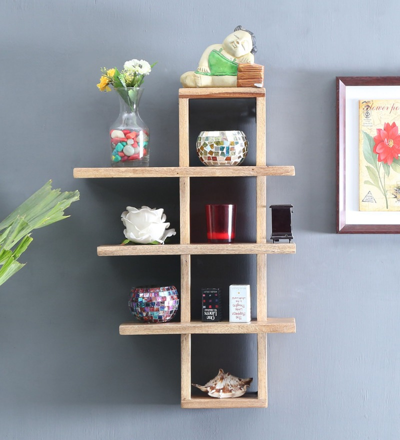 Mango Wood Wall Shelf Decor Home